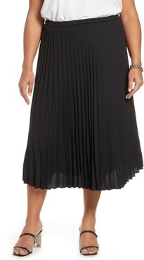 Plus Size Women's Halogen Pleated Midi Skirt