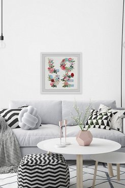 "Marmont Hill Inc. Floral Love Framed Painting Print - 24""x24"" at Nordstrom Rack"
