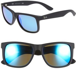 Youngster 54mm Sunglasses - Black/ Green Mirror/ Blue