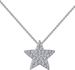 Simulated Diamond Star Pendant Necklace