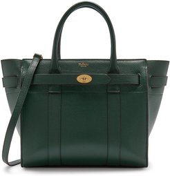 Small Zip Bayswater Classic Leather Tote - Green