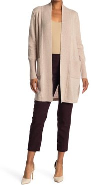 Magaschoni Ribbed Open Front Cashmere Long Cardigan at Nordstrom Rack