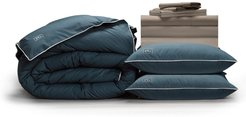 Pillow Guy Full Classic Cool & Crisp Perfect Down Alt Gel Bedding Set - Sandy Taupe at Nordstrom Rack