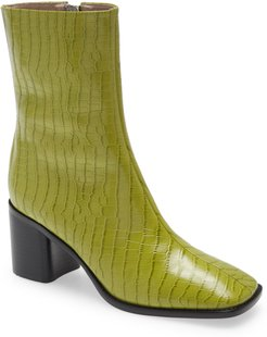 Contour Croc Embossed Leather Boot