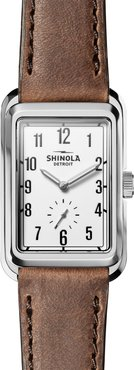 Shinola Men's Omaha Leather Strap Watch, 26mm x 36.5mm at Nordstrom Rack