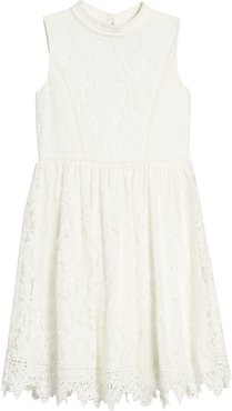 Girl's Blush By Us Angels Lace Skater Dress