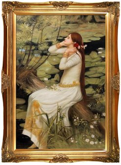 Overstock Art Ophelia - Framed Oil reproduction of an original painting by John William Waterhouse at Nordstrom Rack