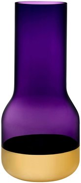 Nude Glass Contour Vase - Tall with Purple Top and Golden Base at Nordstrom Rack