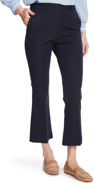 Flat Front Crop Straight Leg Trousers