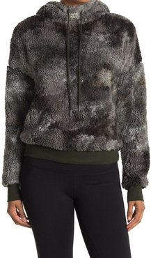 Z By Zella Short Cut Faux Shearling Pullover Hoodie at Nordstrom Rack