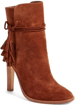 Joie Chap Suede Bow Ankle Bootie at Nordstrom Rack