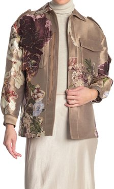 Valentino Floral Silk Zip Front Jacket at Nordstrom Rack
