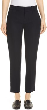 Flat Front Crop Trousers