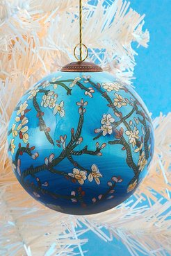 """Overstock Art """"Branches of an Almond Tree in Blossom"""" Vincent Van Gogh Hand Painted Glass Ornament Collection - Set of 12 at Nor"""