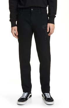 Pxp Palm Embroidered Jeans