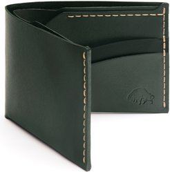 No. 6 Leather Wallet - Green
