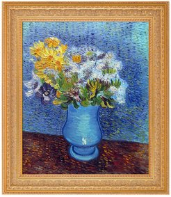 Overstock Art Vase with Lilacs, Daisies and Anemones by Vincent Van Gogh Framed Hand Painted Oil Reproduction at Nordstrom Rack