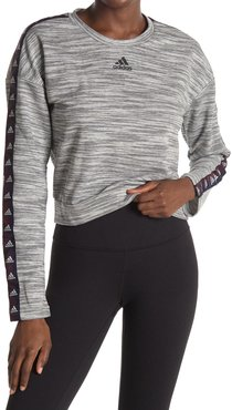 adidas Heathered Knit Cropped Sweater at Nordstrom Rack
