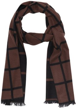 Chelsey Imports Windowpane Print Woven Scarf at Nordstrom Rack