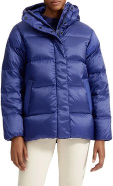 Re: down Puffy Puff Water Resistant Hooded Jacket