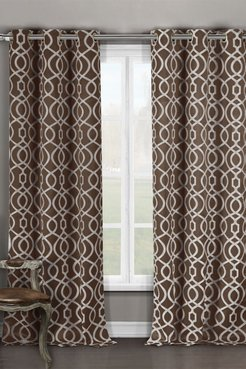 Duck River Textile Harris Blackout Grommet Curtain - Set of 2 - Chocolate at Nordstrom Rack