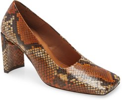 Alicja Snake Embossed Pump