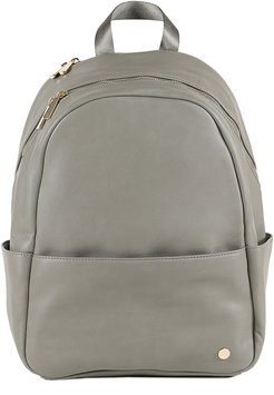 Infant Little Unicorn Faux Leather Diaper Backpack - Grey
