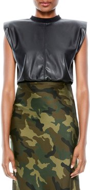 Kendrick Faux Leather Crop Top