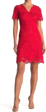 Elie Tahari V-Neck Lace Dress at Nordstrom Rack