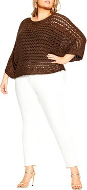 Plus Size Women's City Chic Cool Crochet Sweater