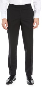 Slim Fit Stretch Wool Tuxedo Dress Pants