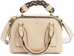 Small Daria Leather Day Bag - Beige