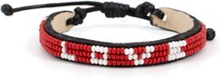 Love 3-Row Beaded Woven Bracelet
