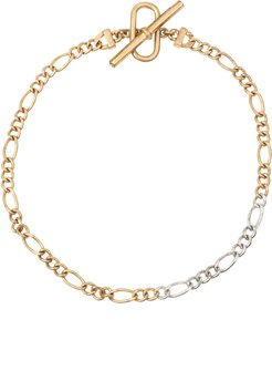 Mixed Chain Link Toggle Anklet