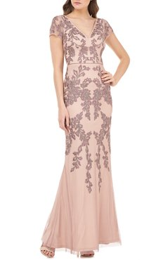 JS Collections Beaded Mermaid Gown at Nordstrom Rack
