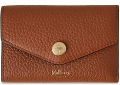 Folded Leather Wallet - Brown