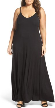 Plus Size Women's Loveappella A-Line Maxi Dress