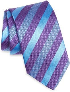 Stripe Silk X-Long Tie