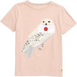 Girl's Mini Boden X Harry Potter Hedwig Applique T-Shirt