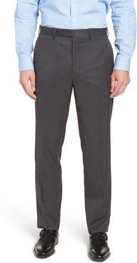 John W. Nordstrom Torino Classic Fit Flat Front Solid Dress Pants