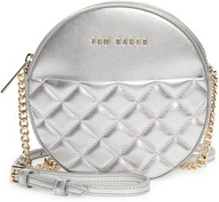 Cirrcus Quilted Leather Circle Crossbody Bag - Metallic