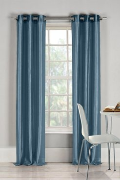 Duck River Textile Bali Faux Silk Grommet Panel Curtains - Set of 2 - Peacock Blue at Nordstrom Rack