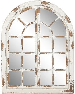 Willow Row Farmhouse Classic White Arched Window Design Decorative Wall Mirror at Nordstrom Rack