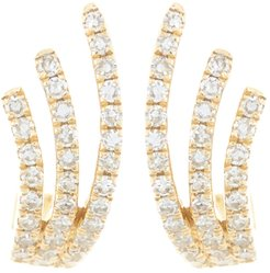 EF Collection 14K Yellow Gold Diamond Willow Huggie Earrings - 0.19 ctw at Nordstrom Rack