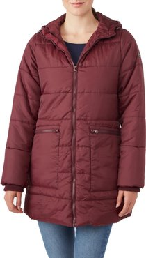 3-In-1 Hybrid Quilted Waterproof Maternity Puffer Coat