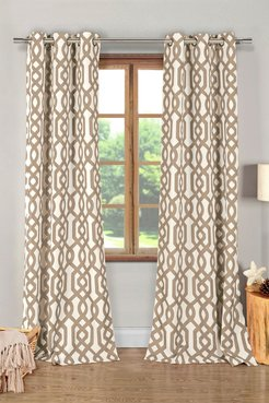 Duck River Textile Ashmont Printed Textured Panel Curtains - Set of 2 - Taupe at Nordstrom Rack