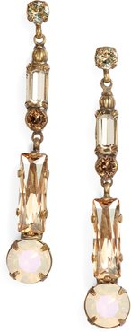 Baguette Crystal Drop Earrings