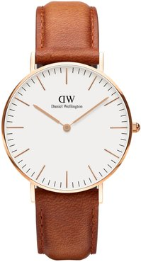 Classic Durham Leather Strap Watch, 36mm