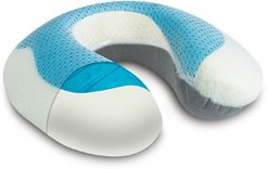 Rio Home Arctic Sleep(TM) Cool-Gel Pad Memory Foam U-Shaped Neck Support Pillow - White/Grey at Nordstrom Rack