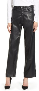 The Tomas High Waist Wide Leg Coated Jeans